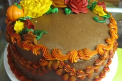 Fall Case Cake, Round