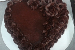 Heart 1-layer Chocolate
