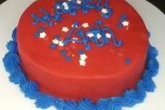 July 4 Case Cake