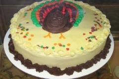 Turkey Round Cake