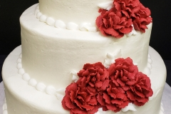 Tiered red floral