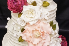 Tiered floral cascade