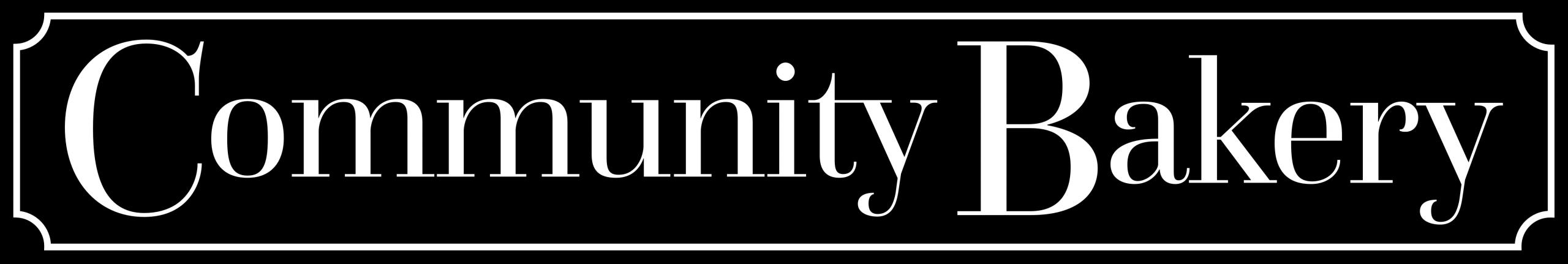 Community Bakery Online